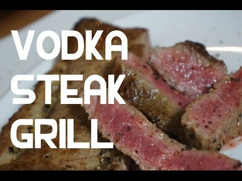 Vodka Beef Steak Recipe Grill or BBQ - Boozy Beef