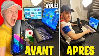 J'AI VENDU SON SET UP FORTNITE ! Il pleure... (prank)
