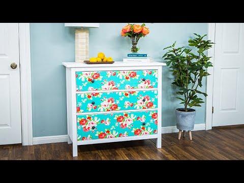 DIY Fabric Covered Dresser - Home & Family