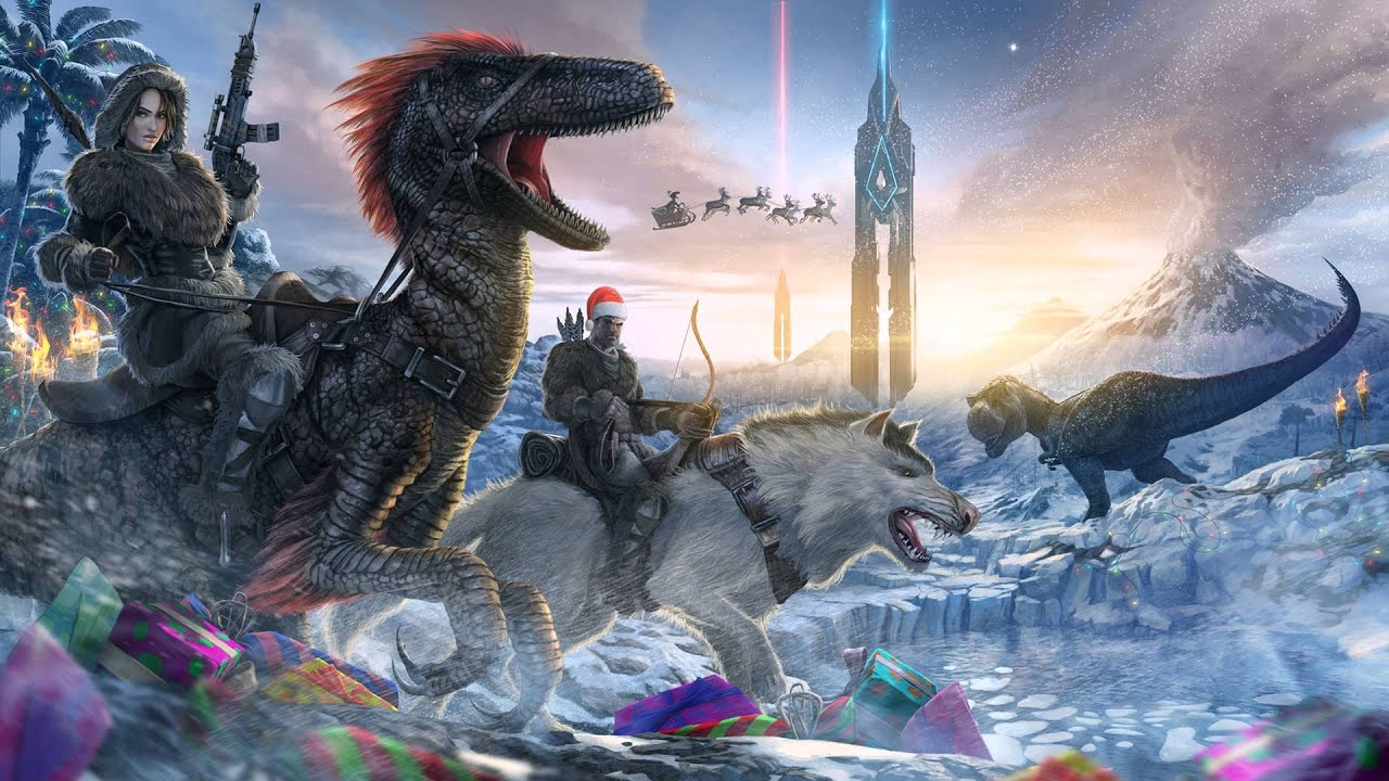 Ark Survival Evolved Backgrounds: Winter Wonderland Menu Theme