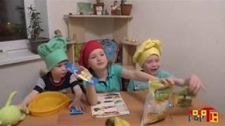 Рецепты для детей. Дети готовят торт. Детский рецепт