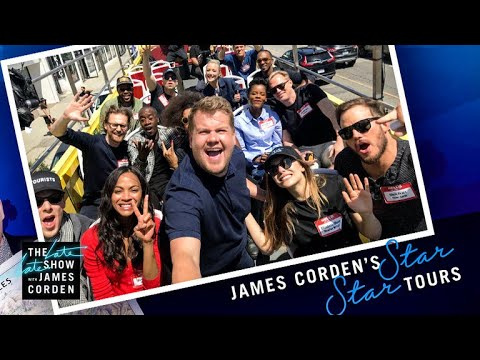 Avengers: Infinity War Cast Tours Los Angeles w/ James Corden