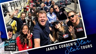 Avengers Infinity War Cast Tours Los Angeles w James Corden MP3