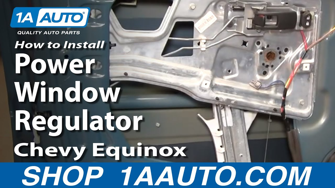 replace power window regulator   chevy equinox