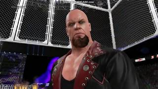 WWE 2k15 undertaker vs kane hell in the cell on low end pc legend gameplay
