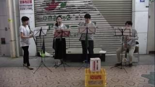 2016年7月30日、スミスインペリテリの路上ライブを福岡県飯塚市の本町商...