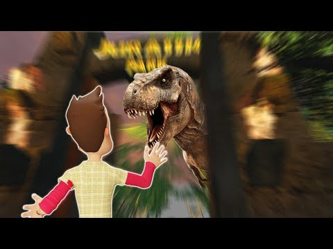 JURASSIC PARK DINOSAUR SURVIVAL! - Garry's Mod Gameplay (Gmod Roleplay) - T-Rex and Raptor Survival