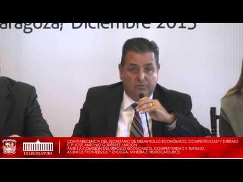09/Diciembre/15 Secretario de Desarrollo Económico, Competitividad y Turismo