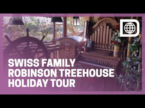 Swiss Family Robinson Treehouse with Christmas Decor - Adventureland Attraction, Tokyo Disneyland