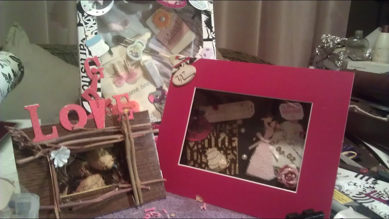Diy make a shadow box from a cardboard box youtube for How to make a letterbox out of cardboard