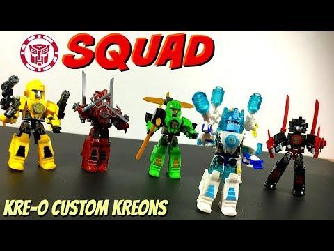 Transformers (RID) KRE-O Custom Kreons [ Armor Up, Blizzard Strike, Night Strike ]