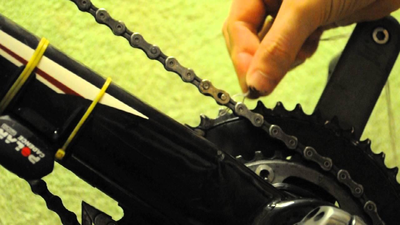 как открыть замок цепи скоростного велосипеда - YouTube