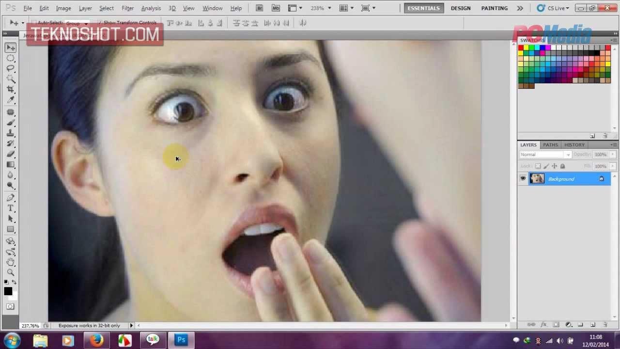 Menghilangkan Jerawat Menggunakan Patch Tool Di Photoshop Cs5 Youtube