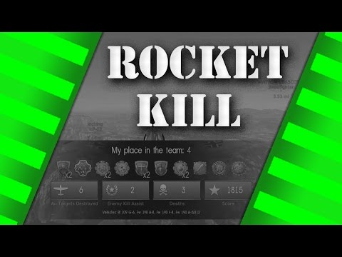 WarThunder - Tier IV Fw190 Rocket Kill - Arcade Gameplay