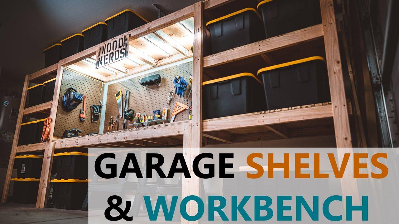 Download DIY Garage Shelves / Shelf / Workbench / Storage / industrial