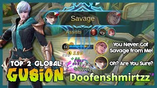 "Perfect Savage Gusion by Doofenshmirtzz Top 2 Global Gusion ""Lancelot? Kidding Me?"" ~ MLBB"