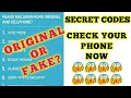 Secret Codes To Check Your Phone If Original Or Fake
