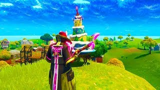 """""""Dance in Front of Different Birthday Cakes"""" ALL LOCATIONS (Fortnite Birthday Challenges)"""