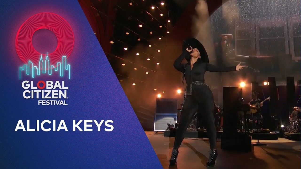 Alicia Keys performs Show Me Love | Global Citizen Festival NYC 2019
