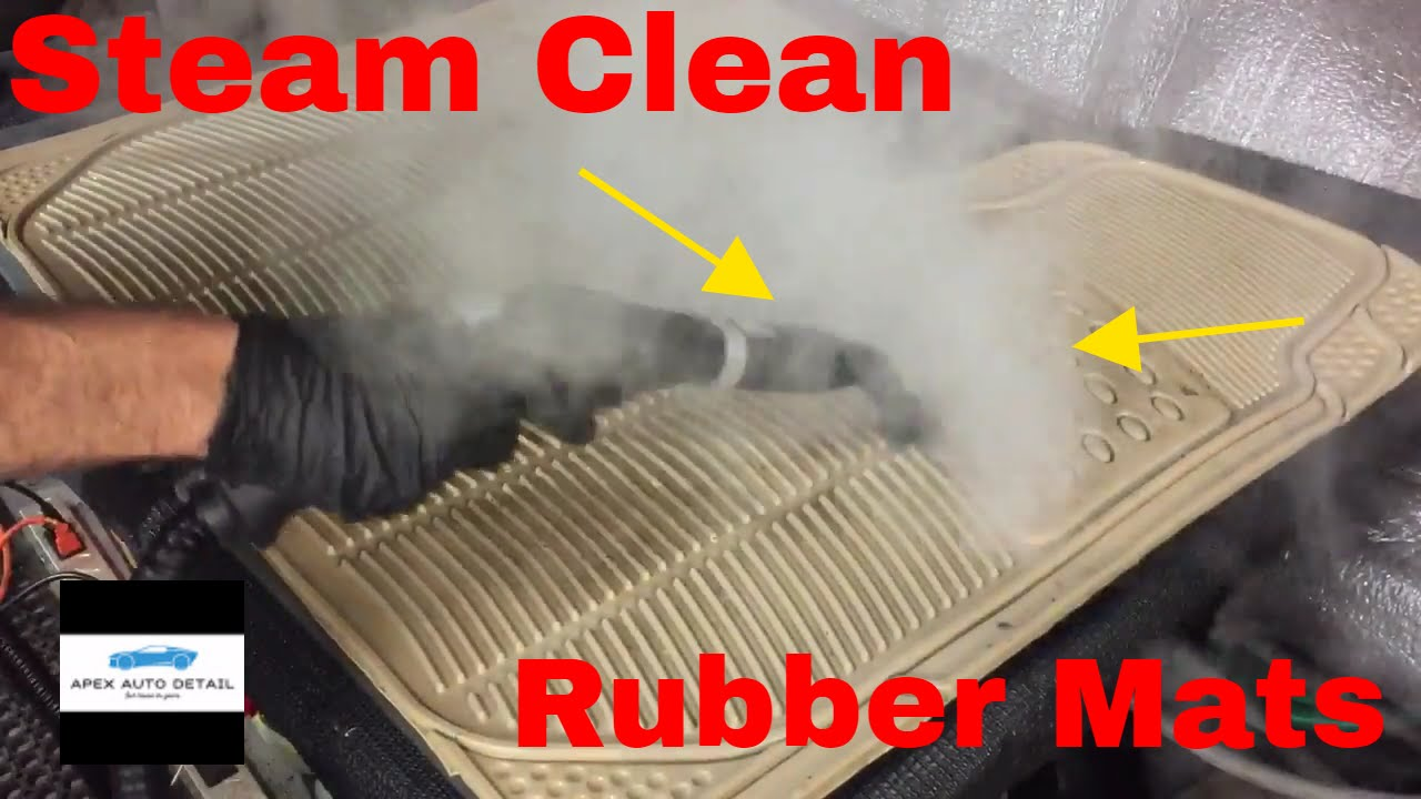 How To Steam Clean Rubber Floor Mats (Auto Detail)   YouTube