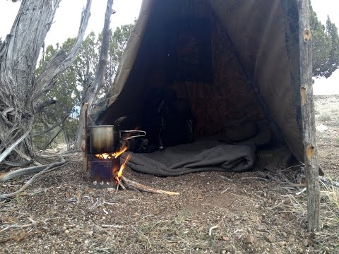 Make a Pull Up Tipi with our Poncho Survival Shelter