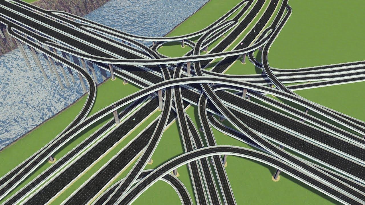 [시티즈:스카이라인] #40. 인터체인지 5개 때려박기 (cities skylines, interchange, intersections)