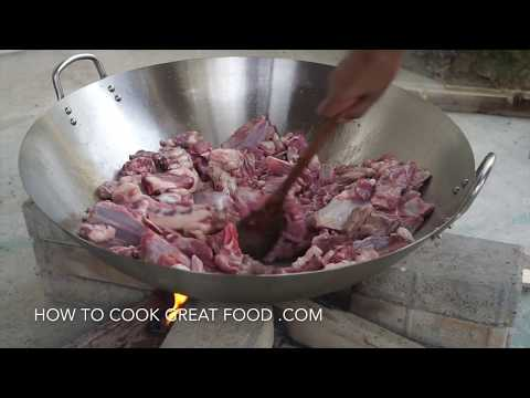 🎥 Ethiopian Lamb Tibs - Wood Fire - Spicy Fried Lamb - BBQ