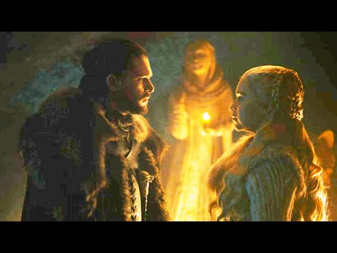 "Game of Thrones 8x02 Jon reveals Daenerys his Real Name ""Aegon Targerian"" Scene   GOT S8E02"