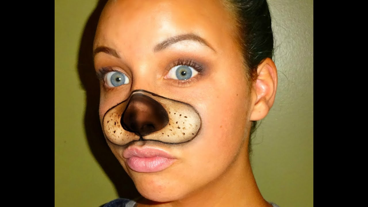 Uncategorized Face Painting Dog halloween series 2016 snapchat dog filter tutorial youtube
