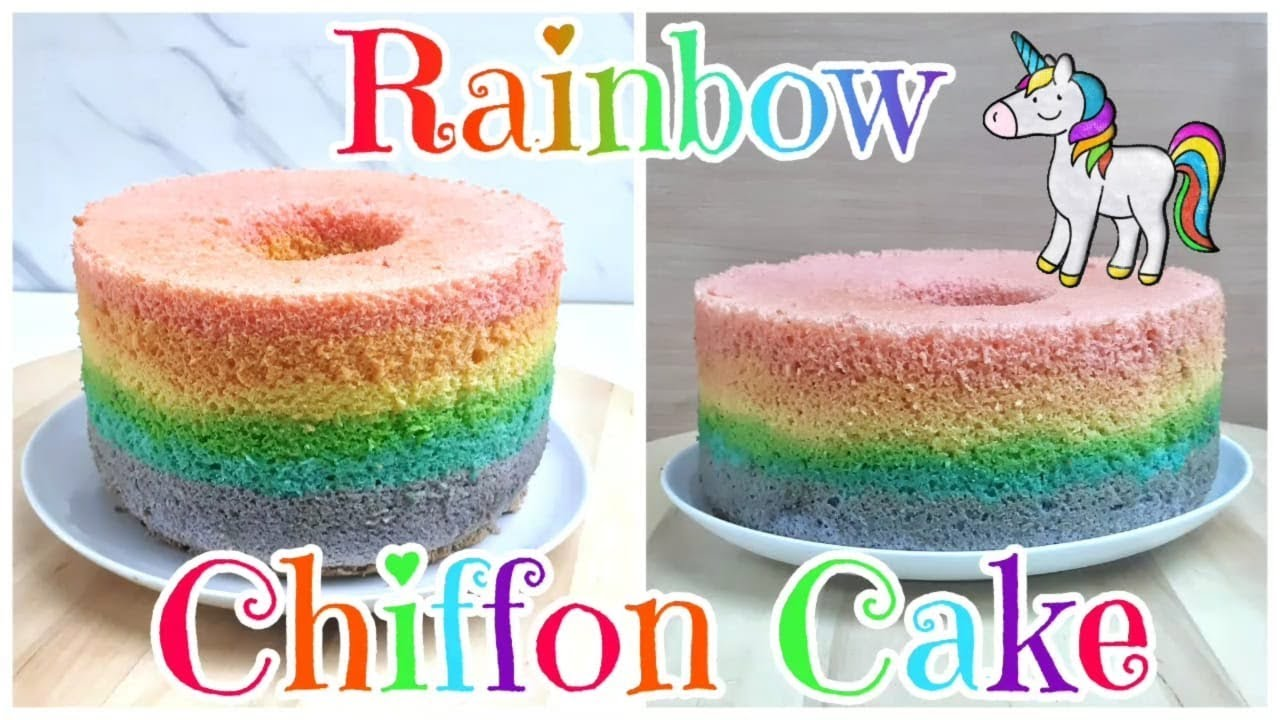 Resep Rainbow Chiffon Cake Youtube