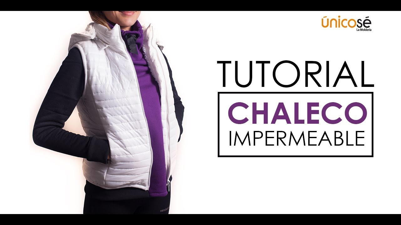 DIY tutorial costura: Parka o chaleco impermeable sin mangas . - YouTube