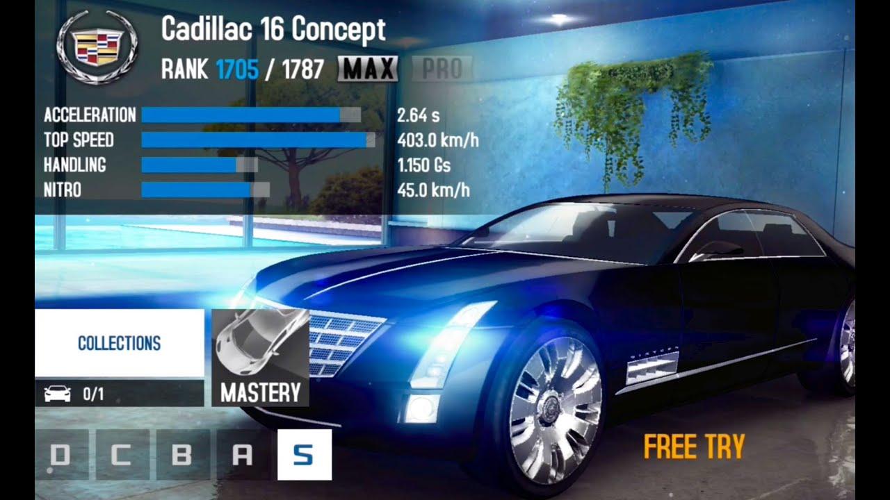 Asphalt 8 - Cadillac 16 Concept Cup Events - YouTube