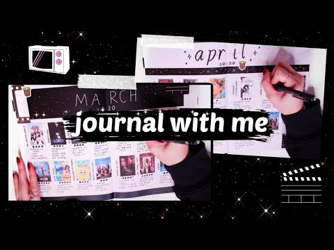 journal with me // film & tv spreads (march & april)