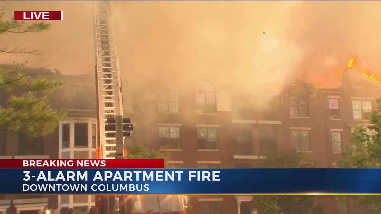 Firefighters battle fire at empty apartment complex near downtown ...