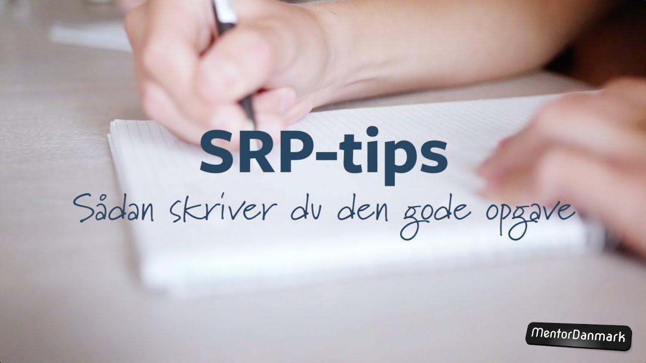 Nannas SRP-tips: Sådan skriver du den gode opgave