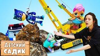 Фото Детский сад Капуки Кануки Куклы и игрушки купаются в пене Бассейн с шариками   Мультики для детей