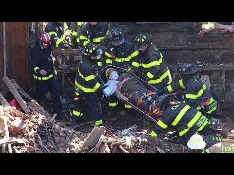 FDNY rescues man from building collapse (10-60)