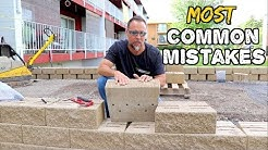 Common Retaining wall mistakes & how to AVOID THEM, bad designs, bad base, wrong block....#2
