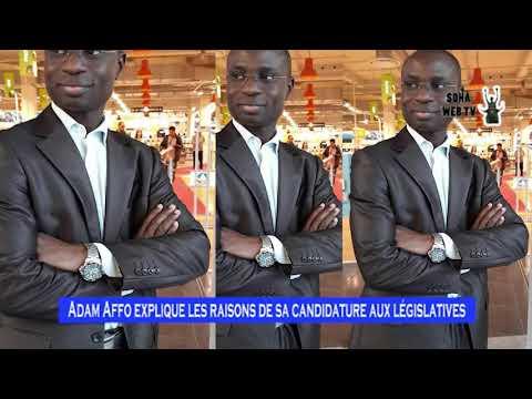 Adam Affo explique les raisons de sa candidature aux législatives