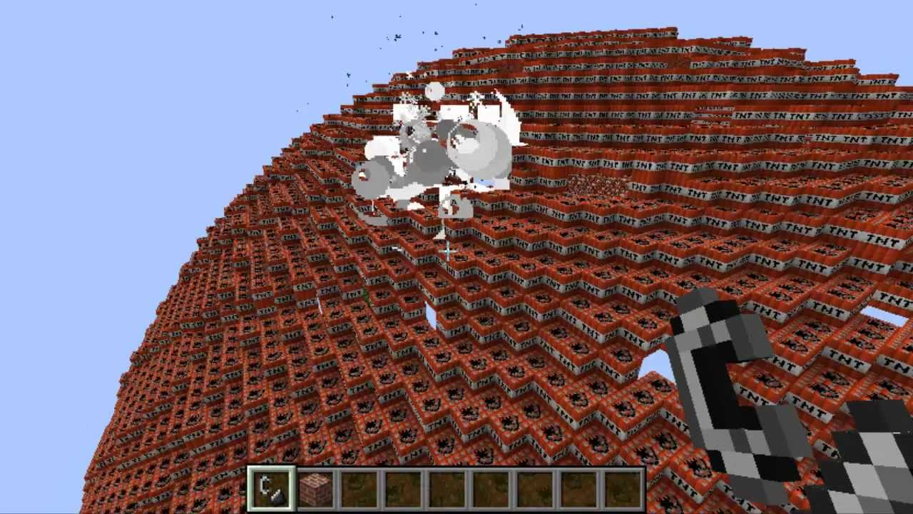 The Worlds Largest Minecraft Tnt Explosion Youtube