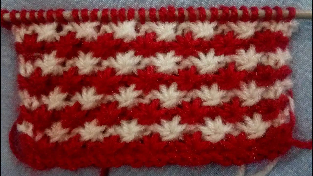 Knitting Stitches Star Design Youtube