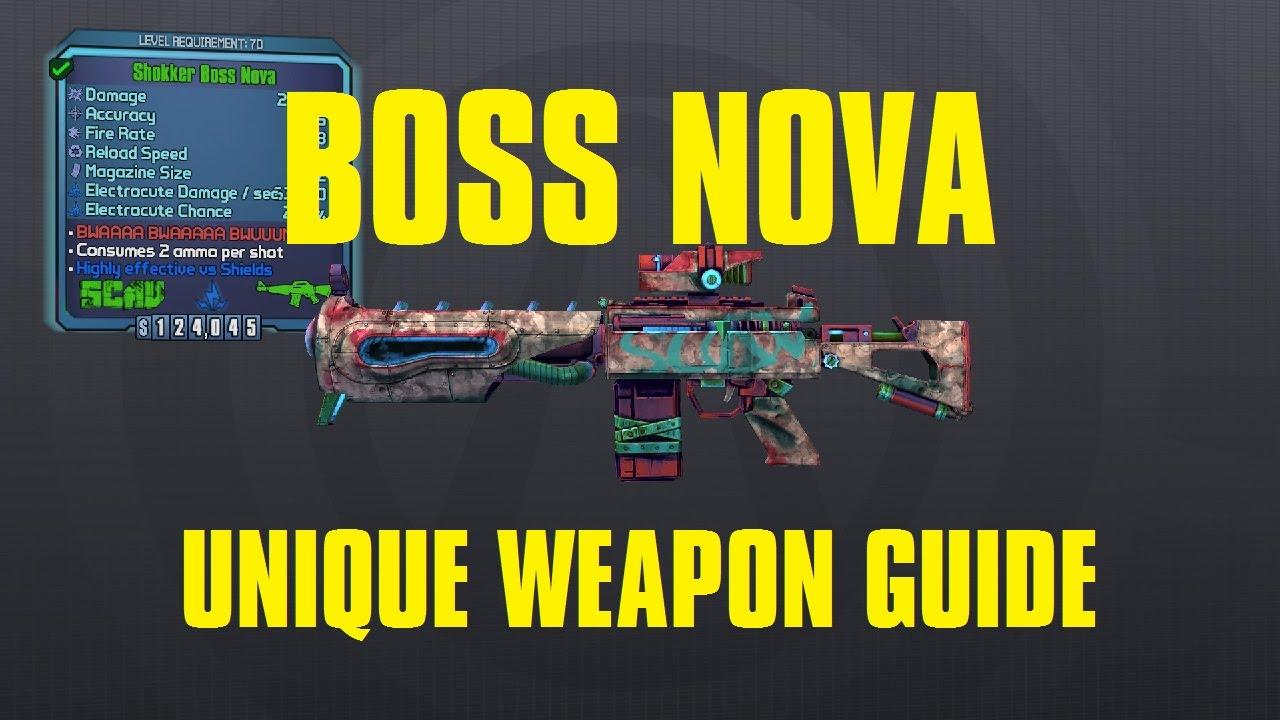 Boss Nova Borderlands Pre Sequel Unique Scav Assault Rifle Youtube