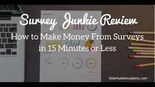 Survey Junkie Review - Start Earning Income on The Side Now