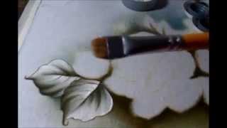 Como pintar folhas 1