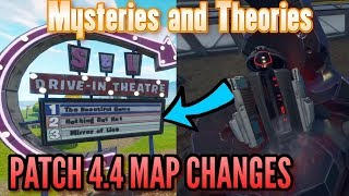 FORTNITE PATCH 4.4 ALL MAP CHANGES - Blockbuster Skin Escapes Meteor (Season 4 Theories)