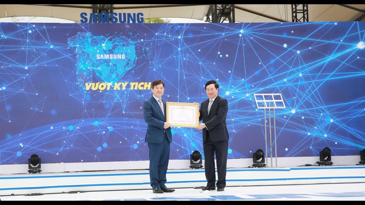 Lễ kỷ niệm 10 năm Samsung Electronics Việt Nam
