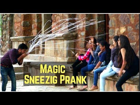 Sneezing Magic Prank - Magic Prank in India - [ Gaurav Tv ]
