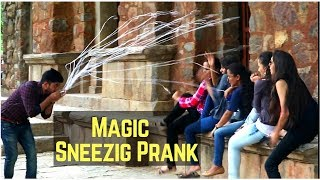Sneezing Magic Prank - Magic Prank in India - [ Gaurav Tv ]
