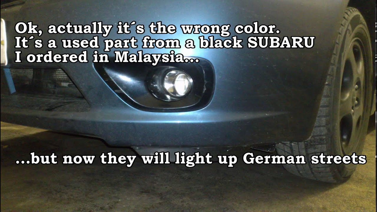 Installation Subaru Legacy Bp Fog Lights Nachrstung Wiring Instructions For Nebelscheinwerfer