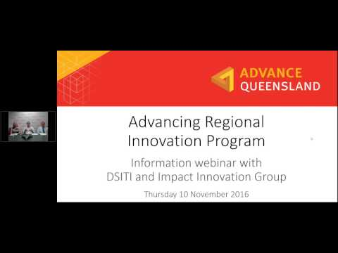 Advancing Regional Innovation Program Pre-registration Webinar - Presentations